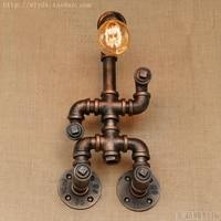 Creatieve Robot Waterleiding Wandlamp Wandlampen Vintage Armaturen Loft Stijl Industriële Wandkandelaar Applicaties Murale LED-in LED Indoor Wandlampen van Licht & verlichting op