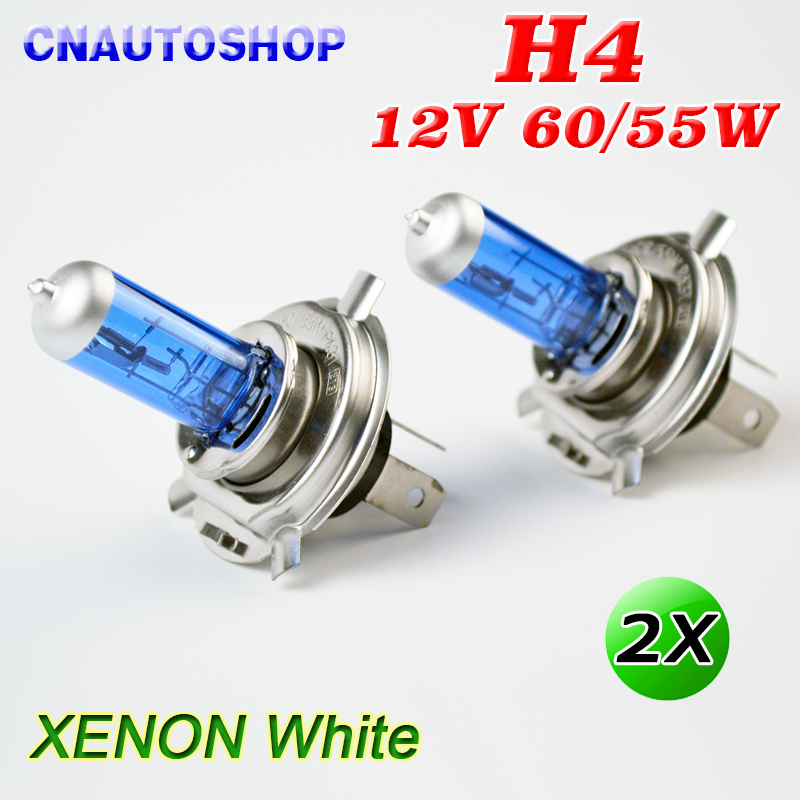 Hippcron H4 Halogen Bulb 12V 60/55W Super White Car Fog Lamp 2 PCS Dark Blue Glass Stainless Steel Base dianzi h4 50 60w 1000 1300lm 5300k white light halogen car headlamp 12v 2 pcs