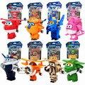 8 unids/set Alas Súper Mini Avión Robot bebé juguetes Figuras de Acción Super Ala Transformación de Animación para Los Niños Embroma el Regalo