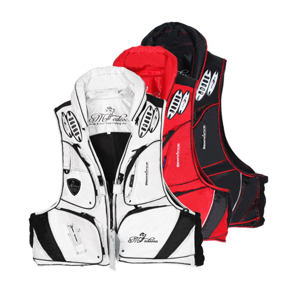 все цены на South Korea Medesea BLV-04b life jackets fishing clothes fishing yacht vest Wear waterproof with a whistle across