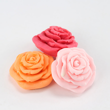 Silicone Molds for Soap Making 3 Holes Rose Flower DIY Candy Chocolate Mould
