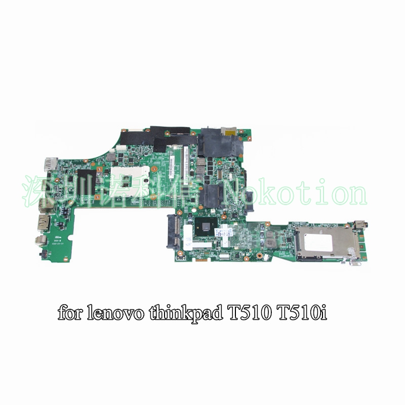 NOKOTION 48.4CU03.031 FRU 63Y1499 For lenovo thinkpad T510 T510I laptop motherboard 15 inch QM57 DDR3 fru 63y1896 for lenovo thinkpad w510 laptop motherboard qm67 ddr3 nvidia quadro fx 880m 15 6 inch