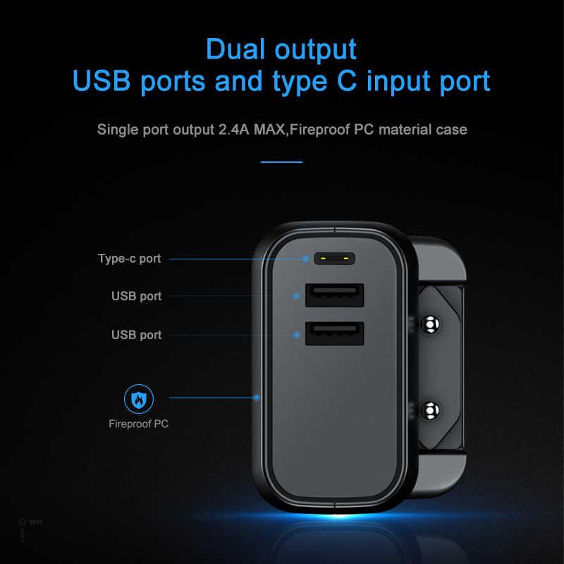 Elough כוח בנק 5000mah dual usb מטען נייד חיצוני סוללה טלפון poverbank מהיר טעינת powerbank