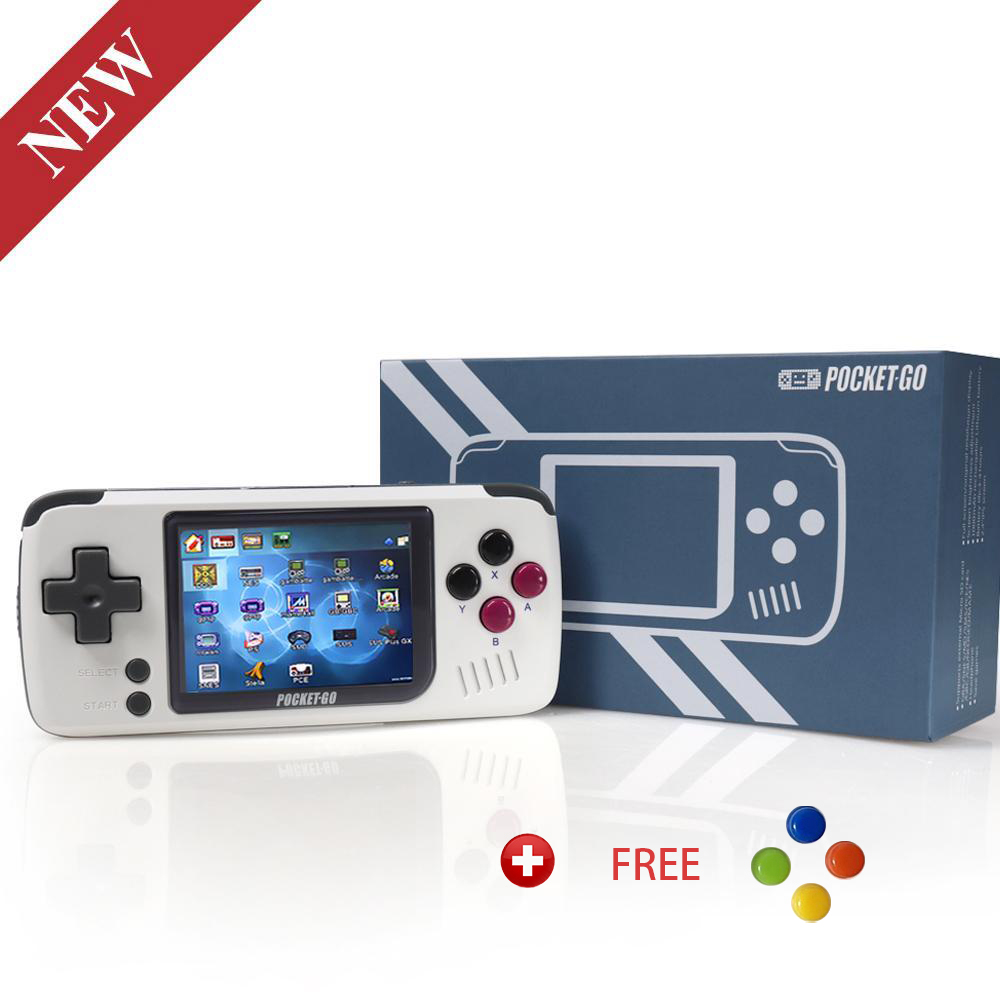 Video Game Console -PocketGO - Portable Handheld Retro Game Players Progress Save/Load MicroSD card External Colorful Screen