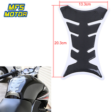 цена на Freeshipping Fishbone Carbon Fiber Tank Gas FuelCap Pad Accelerator Cover Sticker Decal Car-Styling Universal Motorcycle Parts