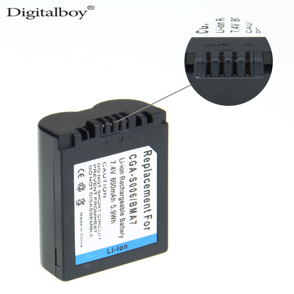 DigitalBoy CGA-S006E CGR S006E CGR-S006A /1B BP-DC5U Camera battery For Panasonic Lumix DMC for PANASONIC CGAS006E CGRS006E z1