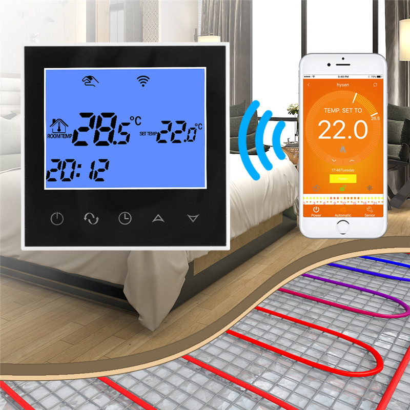 WiFi Thermostat Remote Control for Electric Floor Heating 12/16A Underfloor Infrared Heater Temperature Control by Phone HT1269 floor heating thermostat temperature control switch electric film thermostat electric geothermal uth 170r
