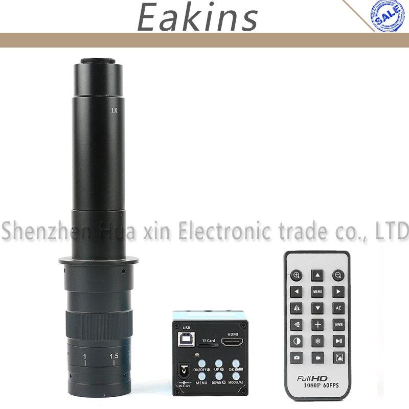 1080 P 16mp HDMI USB промышленная видео-микроскоп Камера TF карты Регистраторы ИК-пульт дистанционного + 180x 300X C-Mount lnes для ремонта печатных плат