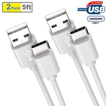 USB C Type C Cable 5ft 2pack, 2 in 1 Data and Charging Cable