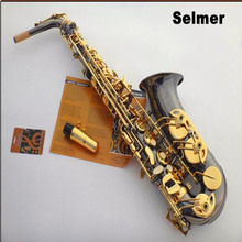 FREE SHipping France Selmer / 54 E flat Alto Saxophone professional sax black nickel gold mouthpiece Top Musical Instruments