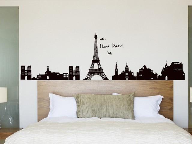 60cm 33 cm pvc eiffeltoren wandkleden woonkamer slaapkamer