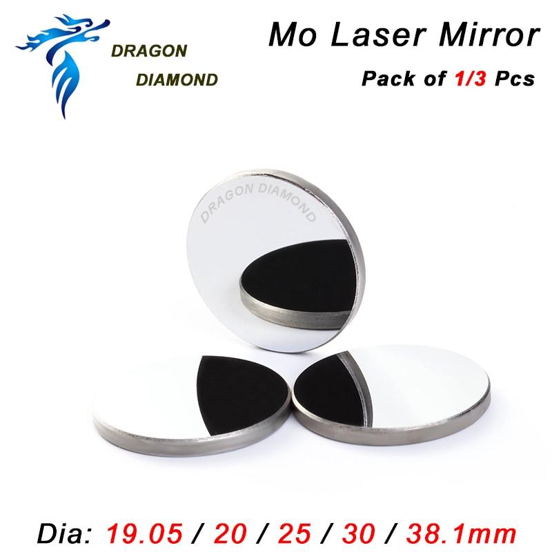 1 pz 3 pezzi Diametro specchio riflettente laser 19,05 20 25 30 38,1 - Strumenti di misura - Fotografia 2
