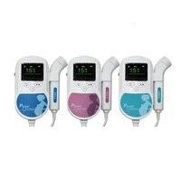 Bolsillo Bebé Latido Del Corazón Fetal Fetal Doppler Del Bebé Del Ritmo Cardíaco Monitor de Pantalla LCD Sonoline C 2/3 M Flujo de Sangre Sonda Vascular embarazadas