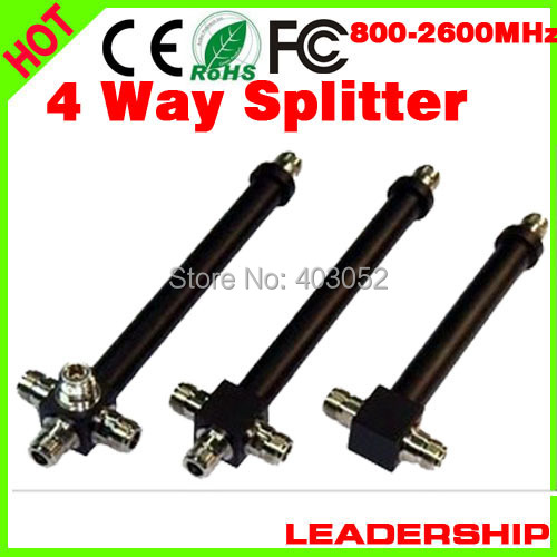 10pcs/lot 800mhz-2500MHz 4 Ways N Type Female Joint 200W Power Divider Broadcast Power Divider Splitter 1/4 4 Way Splitter