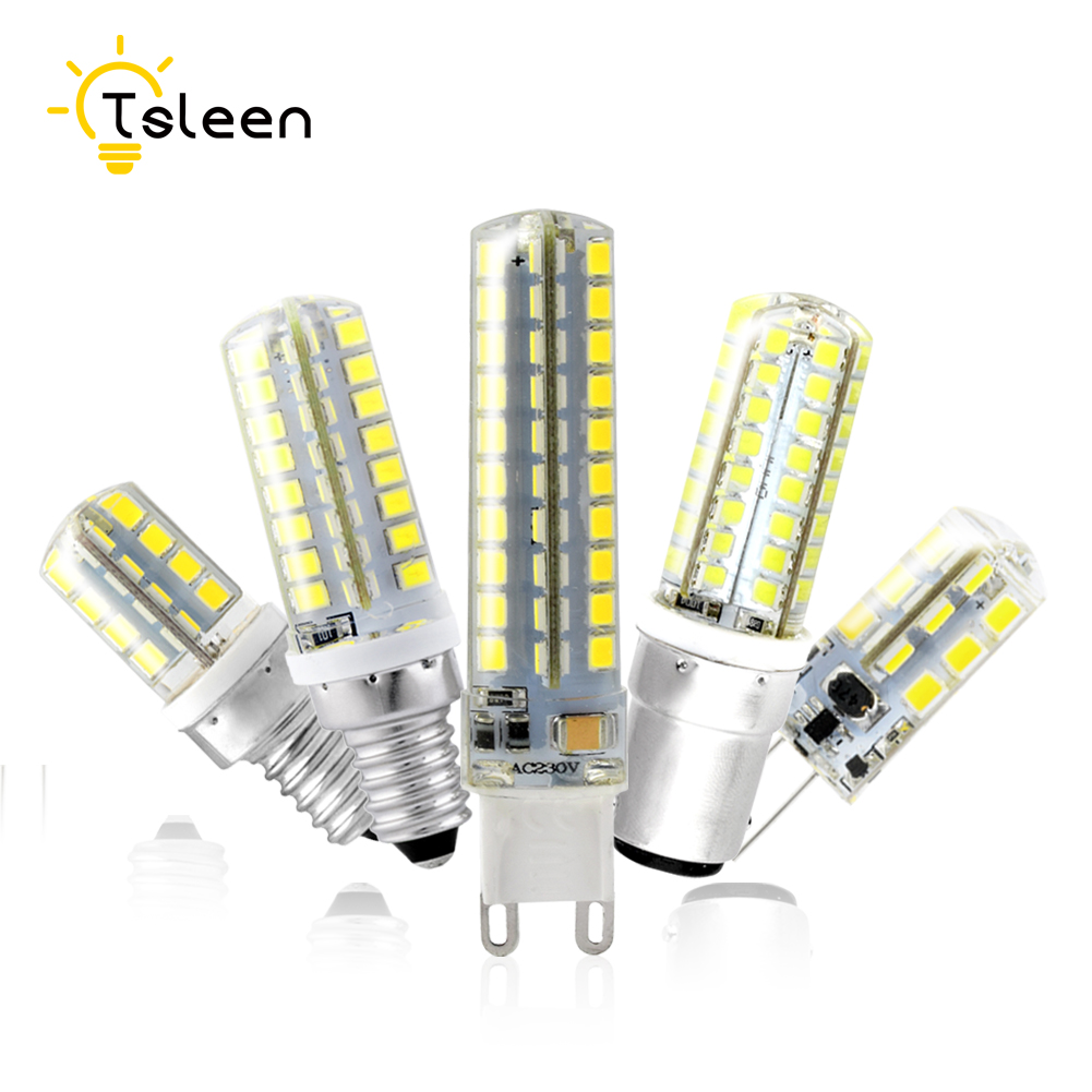 TSLEEN Free Shipping LED Corn Bulb Lamp G4 G9 E12 E14 B15 Lampada LED light 360 degrees Replace Halogen Lamp 3 3.5 4 5 7 8 9W