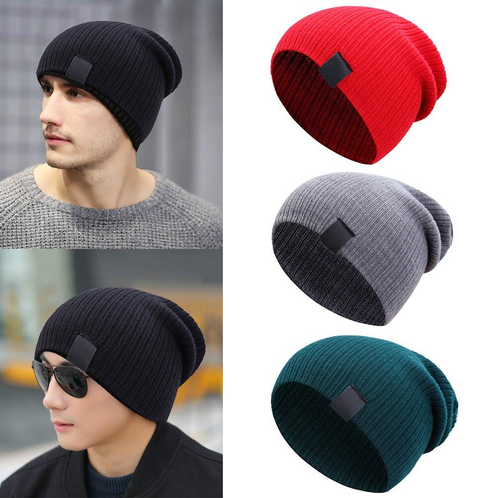 Men Women Winter Beanies Cap Outdoor Bonnet Skiing Hat Soft Knitted Hat TT@88