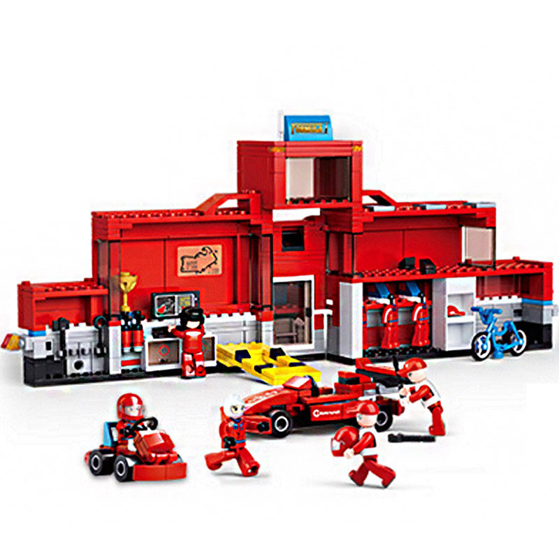Building Blocks 2IN1 Formula Racing Car Transport Truck Model Bricks Brand Educational Gift Toy for Children 557 Pieces les enfants pj racing mission cruiser car dessin maskmm toy anime pj car big truck display jouet children bithday gift toys