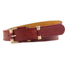 2018 Hot Women Lady Belts Faux Leather Gordon Deall All-match Waist Band for Pants & Dress Belt with Golden Tone Buckle