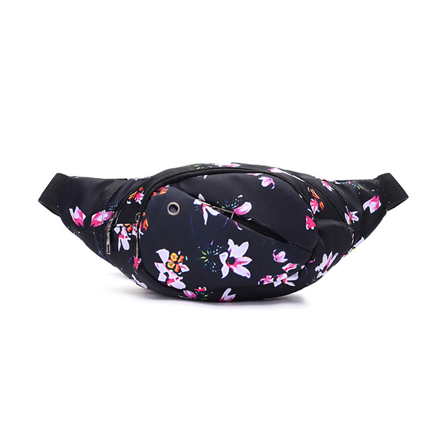 PACGOTH Personal Casual Canvas Waist Packs Multi-functions Pack Women's Fanny Bag Hip Flowes Animal Prints Waist Bags t 1 Piece