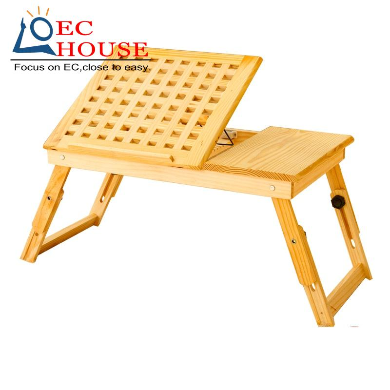 ФОТО new solid wood bed desk notebook comter folding table height adjustable durable lazy FREE SHIPPING