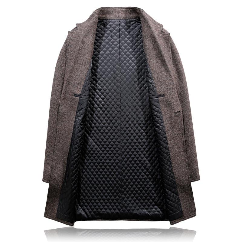Mince 3xl Arrivée Unique Décontractée Solide S Noir cameo Chaud Coton brown Tranchée Style Manteaux Laine Hommes Boutique Bouton De D'affaires Nouvelle Manteau D92EHI