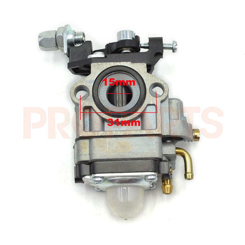 Brushcutter Carburetor Carb For CG430/520 Trimmer Spare Parts 40-5 44-5 43CC 52CC 10 set carburetor repair kits with primer bulb needle for brush cutter cg260 cg330 cg430 cg520 gx35 40 5 43cc 52cc