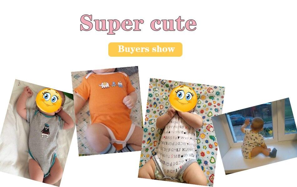 HTB1EaJZtuuSBuNjy1Xcq6AYjFXaj 5PCS/LOT Baby Rompers 2019 Short Sleeve 100%Cotton overalls Newborn clothes Roupas de bebe boys girls jumpsuit&clothing