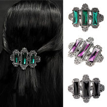 Novo europeu e americano gótico diamante clipes de cabelo cristal diamante transparente acessórios para o cabelo boêmio vampirina arco do cabelo
