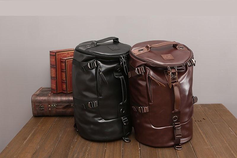 Men's Multi-Functional Backpack Vintage Shoulder Bag High Quality Canvas Male Bagpack Rucksack Travel Luggage for Weekend 23