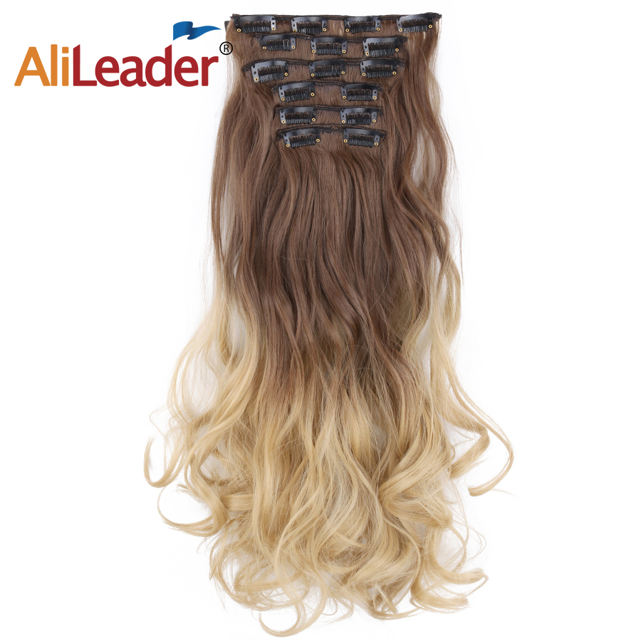 Hot Sale Alileader Hair 22inch 16clips Hairpiece Body Wave Synthetic