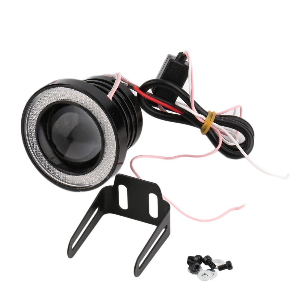 3-Colors 2.5 inch 67mm 30W Led COB Fog Lamp Car Auto Fog Angel eyes light with Lens DC12 24V any car can use New