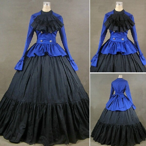 GT020) Long Sleeves Gothic VictorianLolita Dress Ball Gown Fancy ...