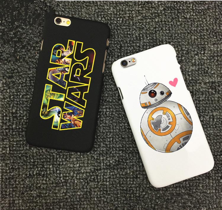Fashion Star Wars Hard PC Back Cover for iPhone 6 6s 5 5s se 7 8 Plus The Force Awakens BB-8 Droid Robot R2D2 Cases For iphone X image