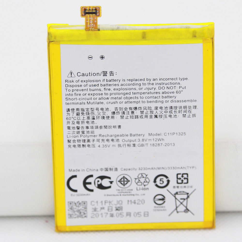 Repair Tools 3230mAh/3300mAh c11p1325 Battery For <font><b>Asus</b></font> ZenFone 6 ZenFone6 A600 A600CG <font><b>T00G</b></font> A601CG image