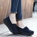 Nobuck moda 2016 Zapatos Top de Las Mujeres Zapatos de Moda Las Mujeres Al Aire Libre Sapatos Equilibrio Nuevos zapatos casuales