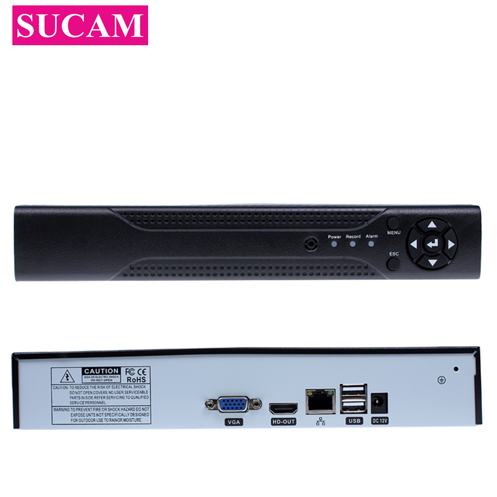 SUCAM Full HD 4 Channel 8 Channel Security Standalone CCTV NVR 1080P 4CH 8CH Network Recorder ONVIF For IP Camera System 1080P full 1080p 8 channel cctv nvr for hd ip camera 3g wifi p2p cloud hdmi port for 8ch onvif network solution 2hdd max 4tb