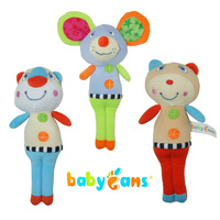 赤ちゃんの手首のガラガラ赤ちゃんガラガラのおもちゃ動物ハンドベルぬいぐるみ玩具赤ちゃん音楽ガラガラのため子供ベッドとベビーカー