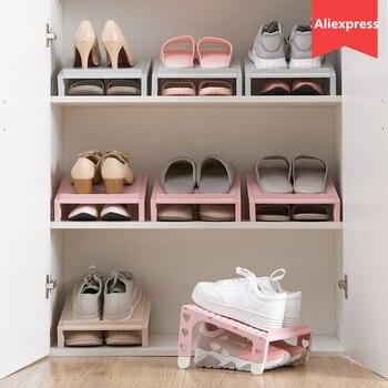 dadbdc6c9 LIYIMENG Rack Recipiente De Armazenamento de Plástico Transparente Caixa de  Sapatos Organizador Organizador de Sapato Espessamento Gaveta Empilhável  Caseket