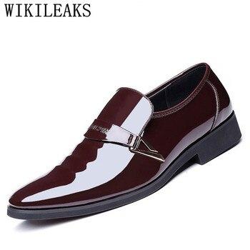 2019 дизайнерская мужская обувь; Роскошные брендовые туфли-оксфорды на шнуровке; обувь для мужчин; туфли с острым носком; модельные туфли из л... >> Good communication & product Store