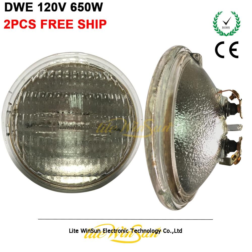 2PCS DWE PAR36 120V 650W Halogen Metal Halide Lamp Source Blinder Audience Light Lamp Source