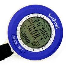 5 في 1 Sunroad صغيرة LCD الخلفية الصيد بارومتر الذكية تتبع مقاوم للماء توقعات الطقس ميزان الحرارة ساعة رقمية SR204