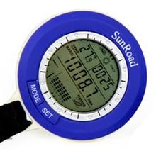 5 In 1 Sunroad Mini Lcd Backlit Vissen Barometer Smart Tracking Waterdichte Weersverwachting Thermometer Digitale Horloge SR204