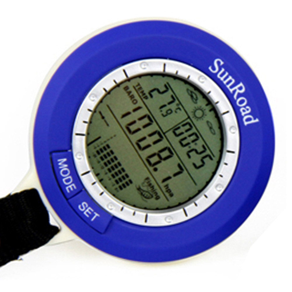 Barometer Backlit Fishing Waterproof Mini LCD SR204 5-In-1 Sunroad Forecast Digital-Watch title=