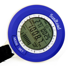5 in 1 Sunroad Mini LCD Backlit Fishing Barometer Smart Tracking Waterproof Weather Forecast Thermometer Digital Watch SR204