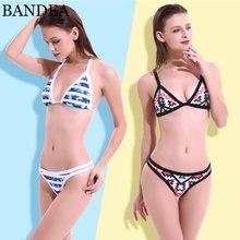 Padding beachwear bain maillot bathing push bikini swimsuit swimwear print de