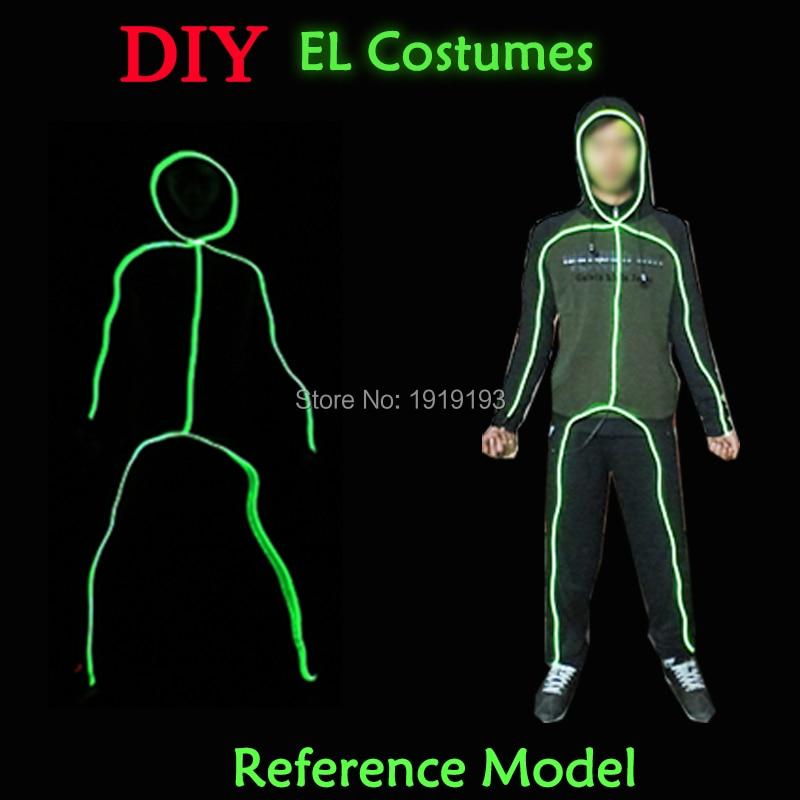 Shitjet e Shpejta DIY 10 Ngjyra Zgjedhni Festën e festës së ndriçimit të festave LED Aksesorët e Kostumeve tela me stilin e burrave të ndeshjeve