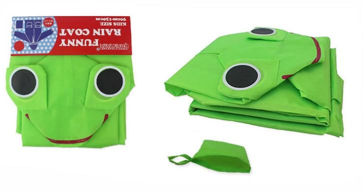 1 шт. Kawaii зеленая лягушка сезон дождей дышащие водонепроницаемые пальто для мальчиков и девочек одежда для детей плащ