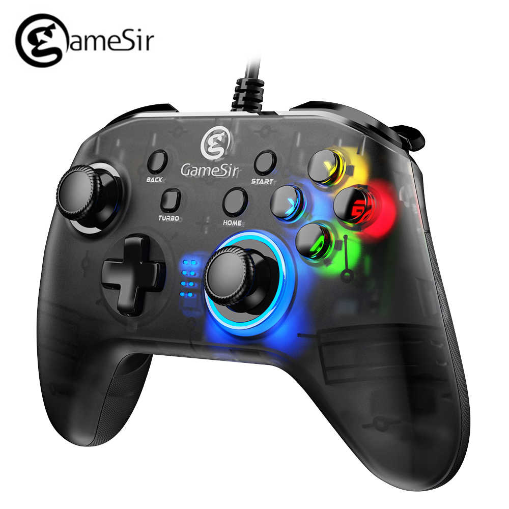 GameSir T4w przewodowy kontroler USB wsparcie wibracji USB przewodowa mysz do gier Gamepad dla systemu Windows (7/8/9/10) PC Android TV BOX komputer dla graczy