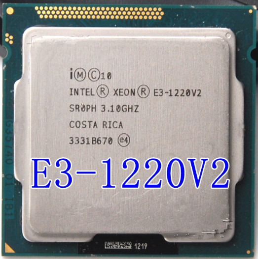 Intel Xeon <font><b>E3</b></font> <font><b>1220</b></font> <font><b>V2</b></font> 3.1GHz 8MB 4 Core 1333MHz SR0PH LGA1155 CPU Processor image