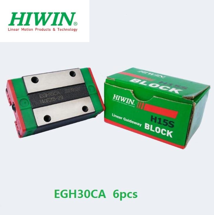 6pcs/lot 100% original HIWIN EGH30CA slider block for EGR30 linear guide rail for CNC router EGH30 CA